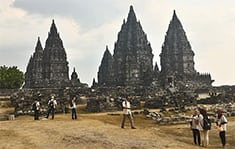 Prambanan Temple during Java Bali Tour Overland